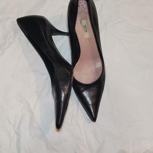 PRADA black kitten heels size 37 1/2